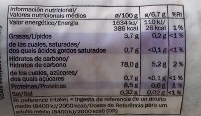 Galettes De Riz - Informació nutricional
