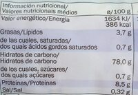 Tortitas de arroz sondey - Nutrition facts - en