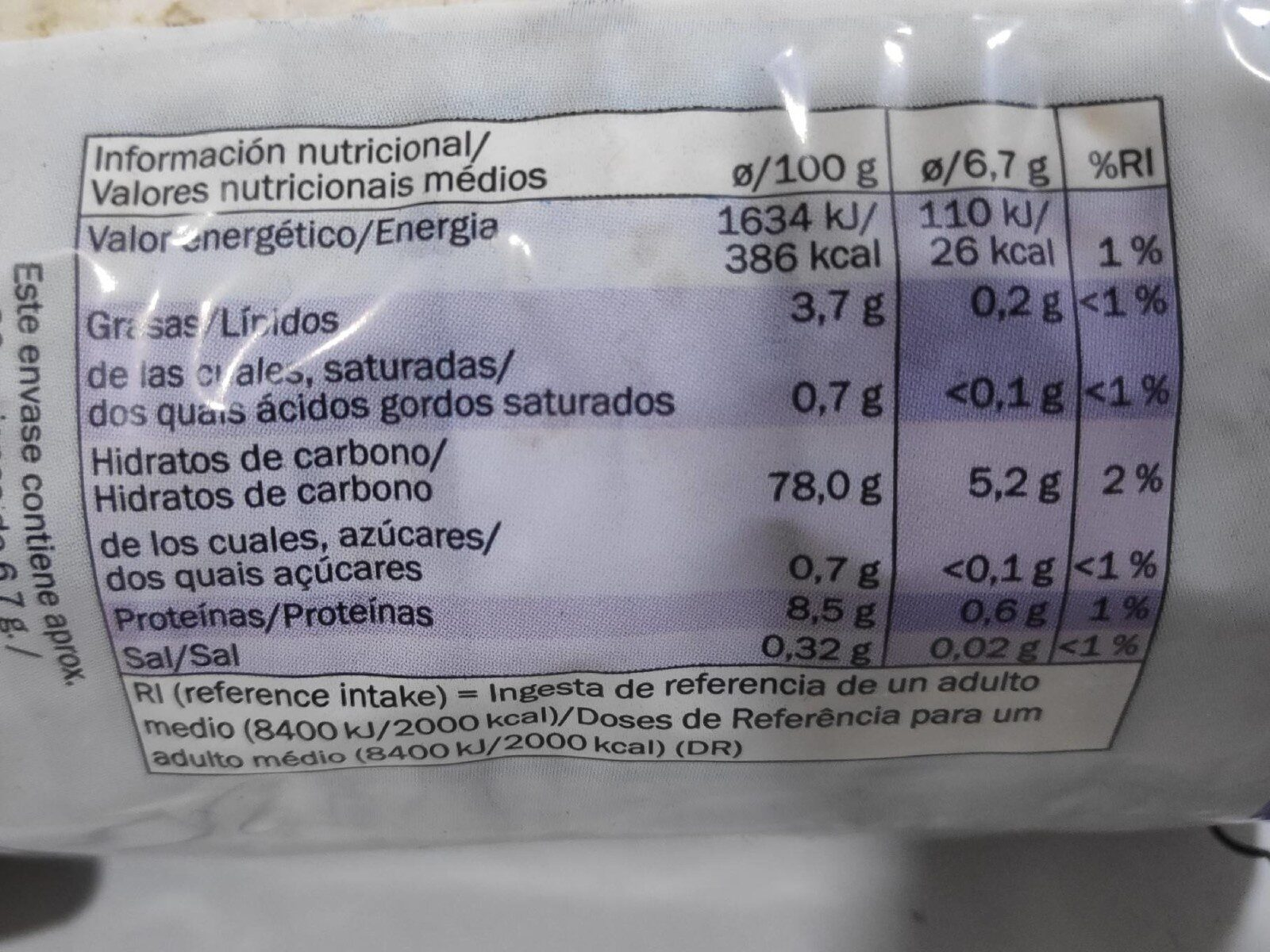 rice cakes.lightly salted - Nutrition facts - en