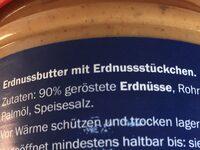 Erdnussbutter - Ingrédients
