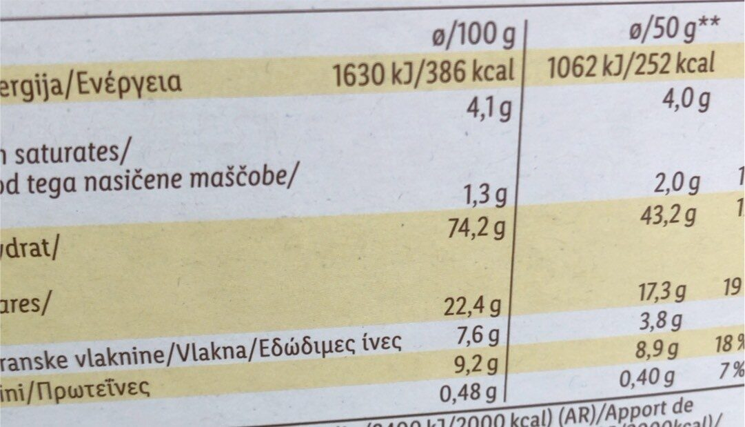 choco moons - Nutrition facts - fr