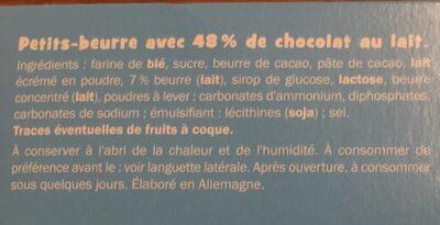 Petit beurre tablette chocolat au lait - Ingrediënten