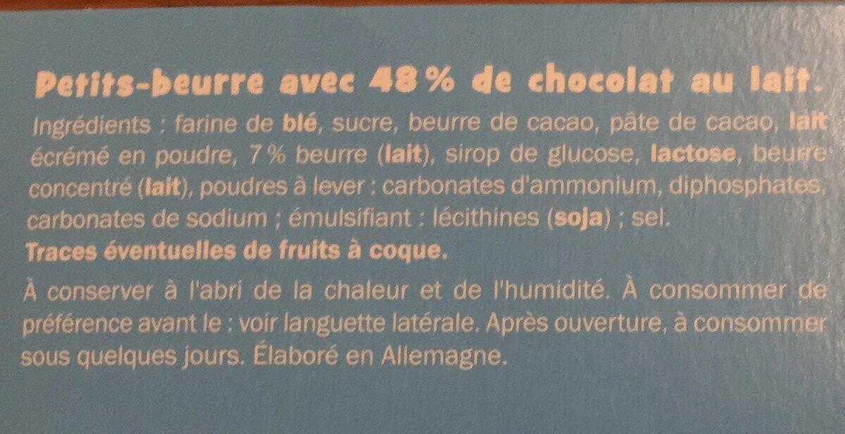 Petit beurre tablette chocolat au lait - Ingrediënten - fr
