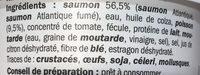 Rillettes de la mer saumon - Ingrediënten - fr