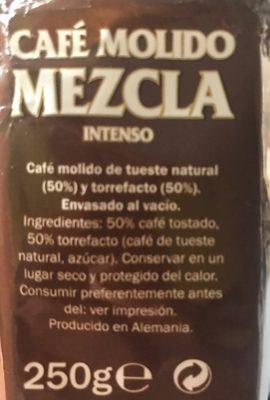 Mezcla - Café Molido Intenso - Ingrédients - fr