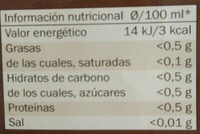 Mezcla - Café Molido Intenso - Informations nutritionnelles - fr