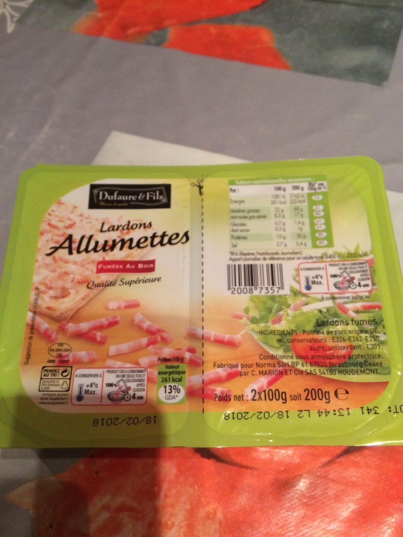 Lardons allumettes - Produit - fr