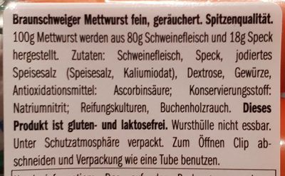 Mettwurst fein - 2