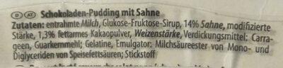 Landfein Pudding Mit Sahne, Schokolade - Ingrediënten - de
