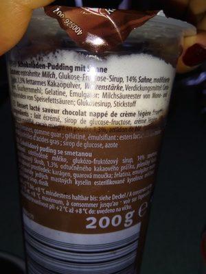 Pudding mit Sahne (Schokolade) - Ingrédients