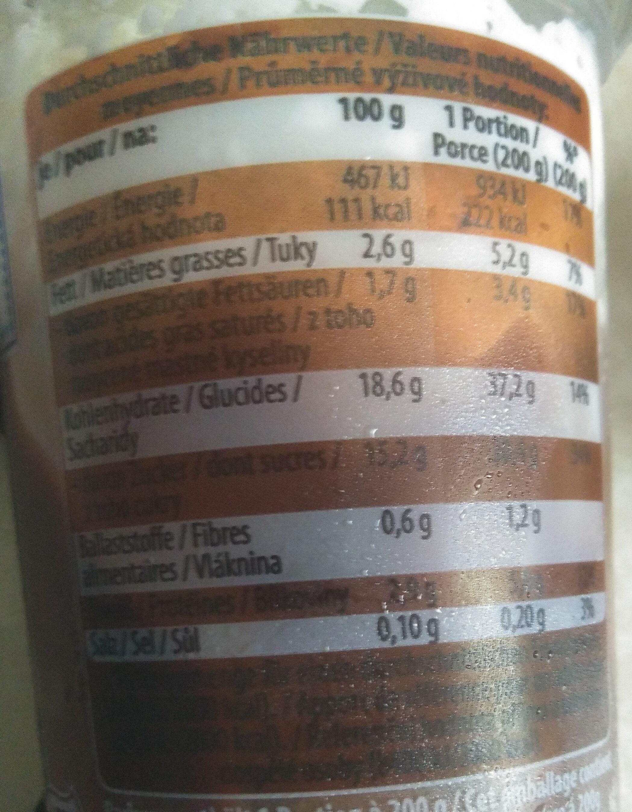Landfein Pudding Mit Sahne, Schokolade - Información nutricional - de