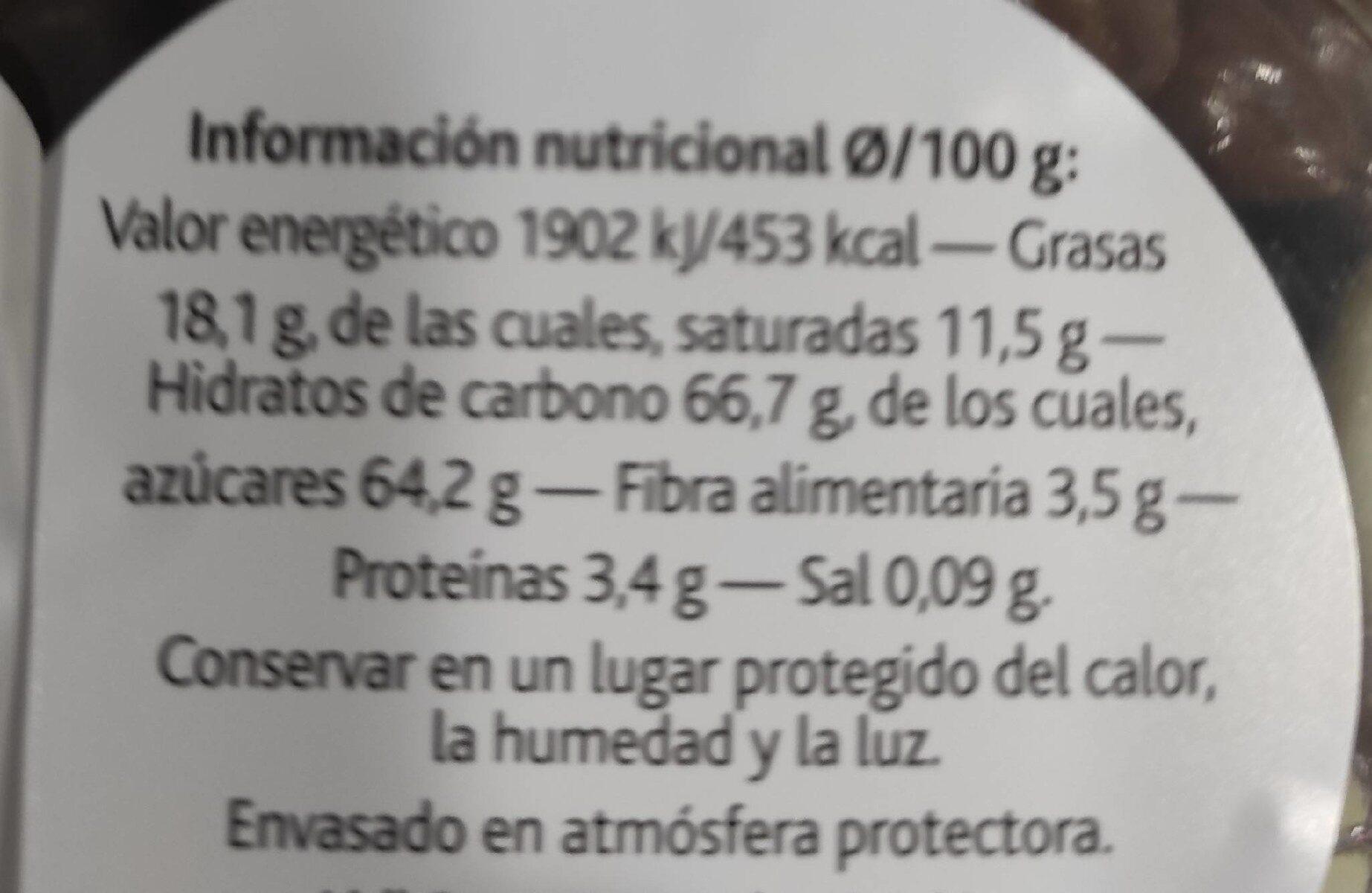 Arandanos tres chocolates - Informations nutritionnelles - de