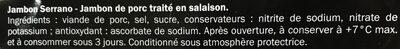 Jambon serrano - Ingredienti - fr