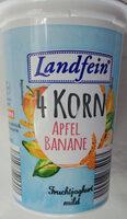 Jogurt mild mit Apfel, Banane, Getreide, Zubereitung, 3,5%Fett - Product - pl