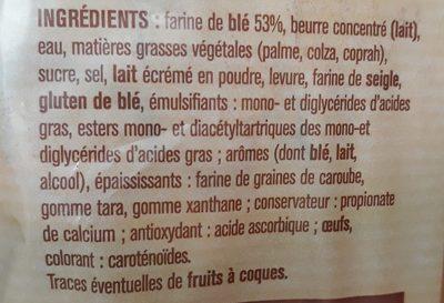 10 croissants - Ingredients - fr