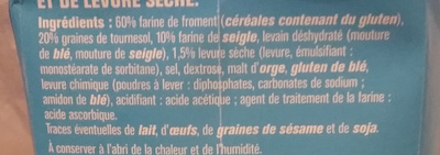 Backmischung Sonnenblumenkernbrot - Ingrédients - fr