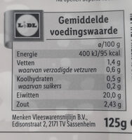 Yorkham - Nutrition facts - nl