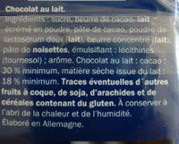 Lait du pays alpin - Ingredients - fr