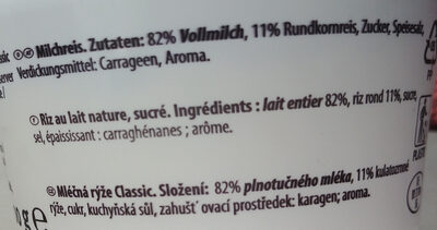 Milchreis Classic - Ingredients