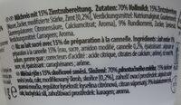 Milchreich mit Zimtzubereitung - Ingredients