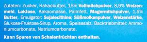 Schoko & Keks Milchcreme - Inhaltsstoffe