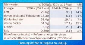 Schoko & Keks Milchcreme - Nährwertangaben - de