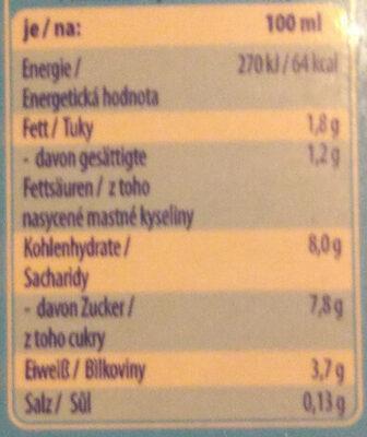 Lait chocolaté - Informations nutritionnelles - fr