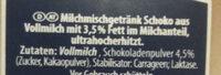 Schoko Drink 3.5% Fett - Ingrediënten