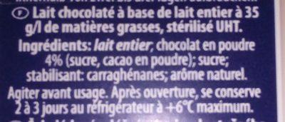 Schoko Drink 3.5% Fett - Ingrédients - fr