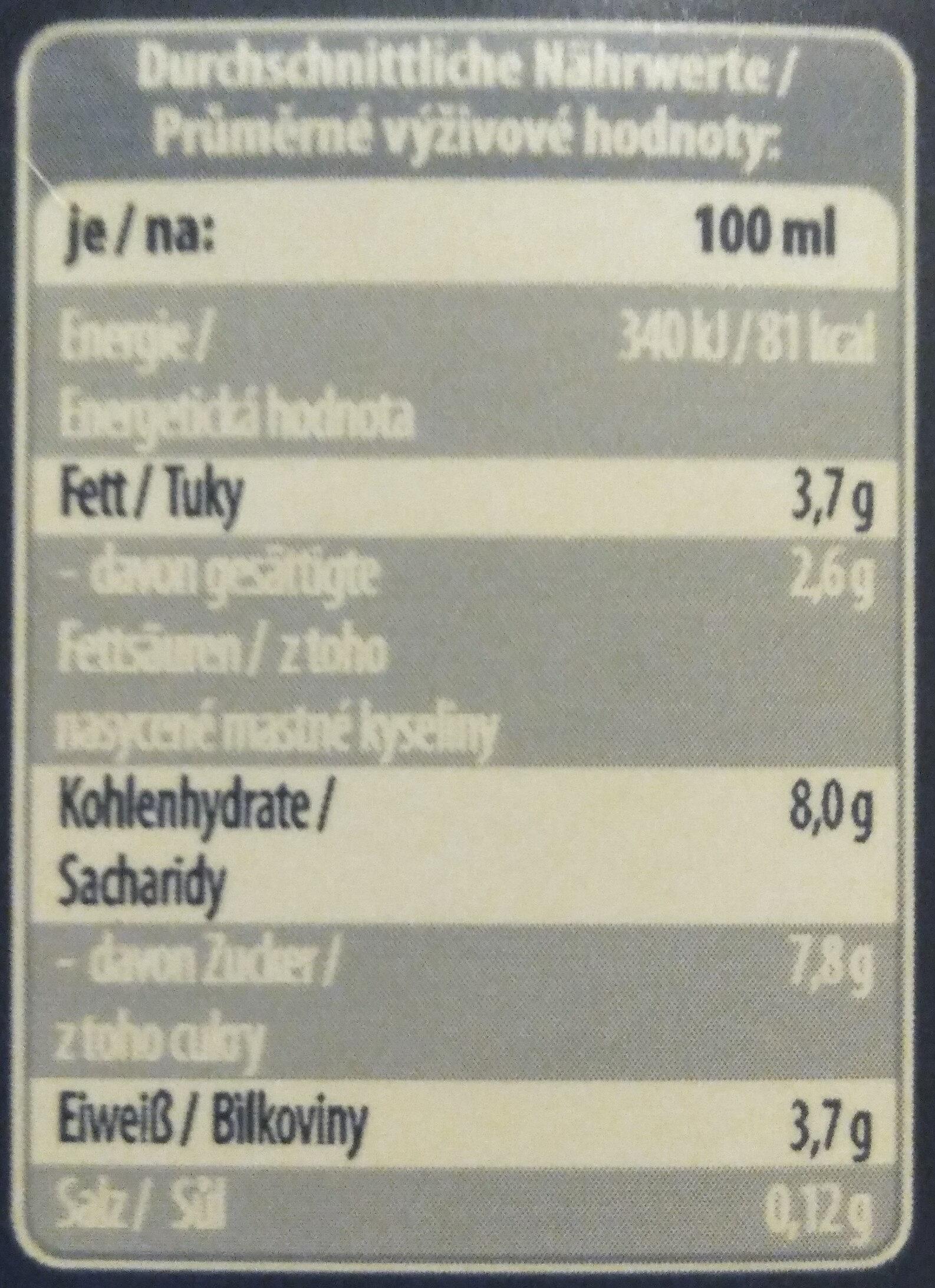 Schoko Drink 3.5% Fett - Voedingswaarden