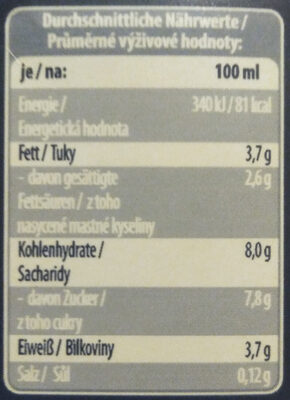 Schoko Drink 3.5% Fett - Informations nutritionnelles - fr
