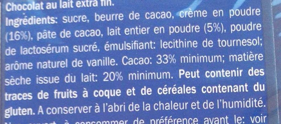 Lait extra fin - Ingrédients - fr