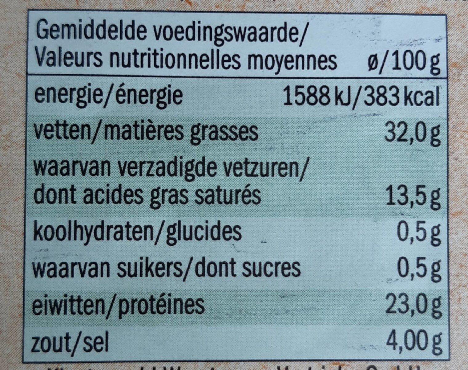 Bio Salami Venezia - Nutrition facts