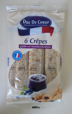 Crêpes gefüllt mit Heidelbeerkonfitüre - Product - de