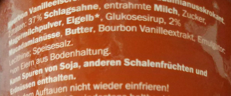 Pot de glace Vanille & Macadamia - Zutaten - de