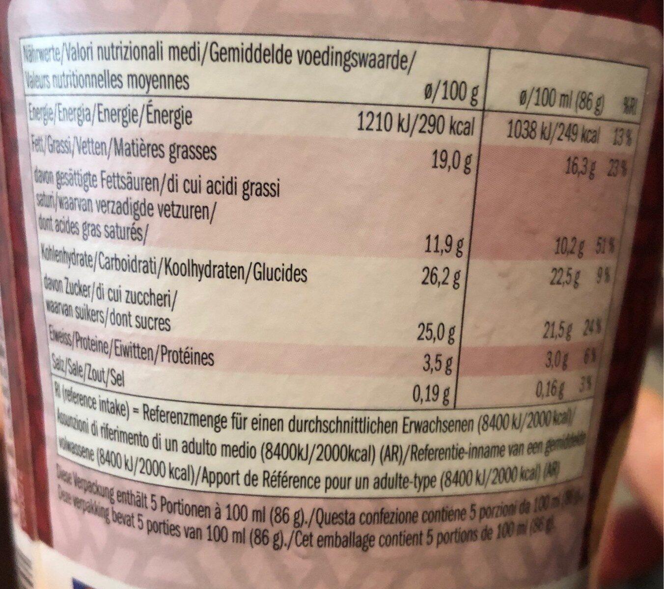 Pot de glace Vanille & Macadamia - Nährwertangaben - de