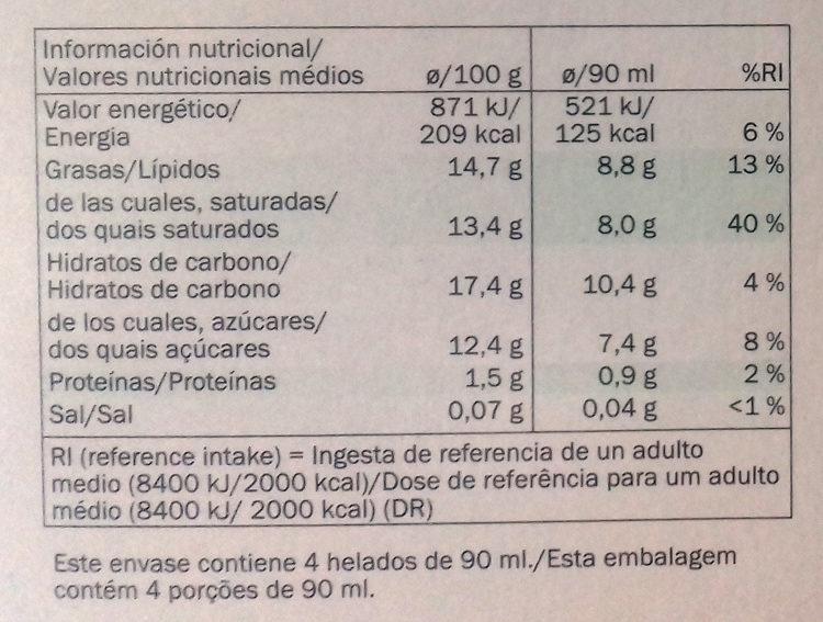 Bombón Coco con bebida de coco vegetal - Información nutricional - es