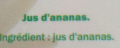 Ananas 100% pur jus - Zutaten - fr