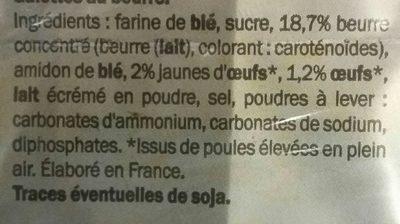 Galette bretonne - Ingrédients - fr