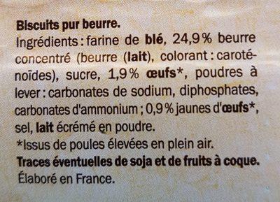 Palets Bretons au beurre - Ingrédients - fr