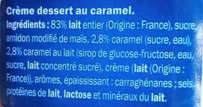 Crème dessert Caramel - Ingrédients - fr