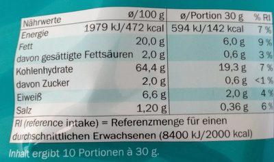Tortilla gout nacho cheese - Nährwertangaben - de