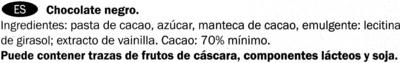 Ecuador 70% Kakao - Ingredientes - es
