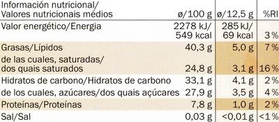 Ecuador 70% Kakao - Información nutricional - es