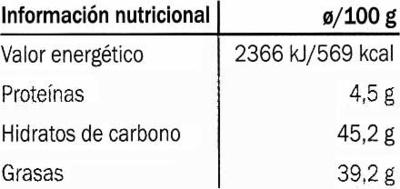 Edel-Zartbitter-Schokolade Venezuela 56% Kakao - Información nutricional