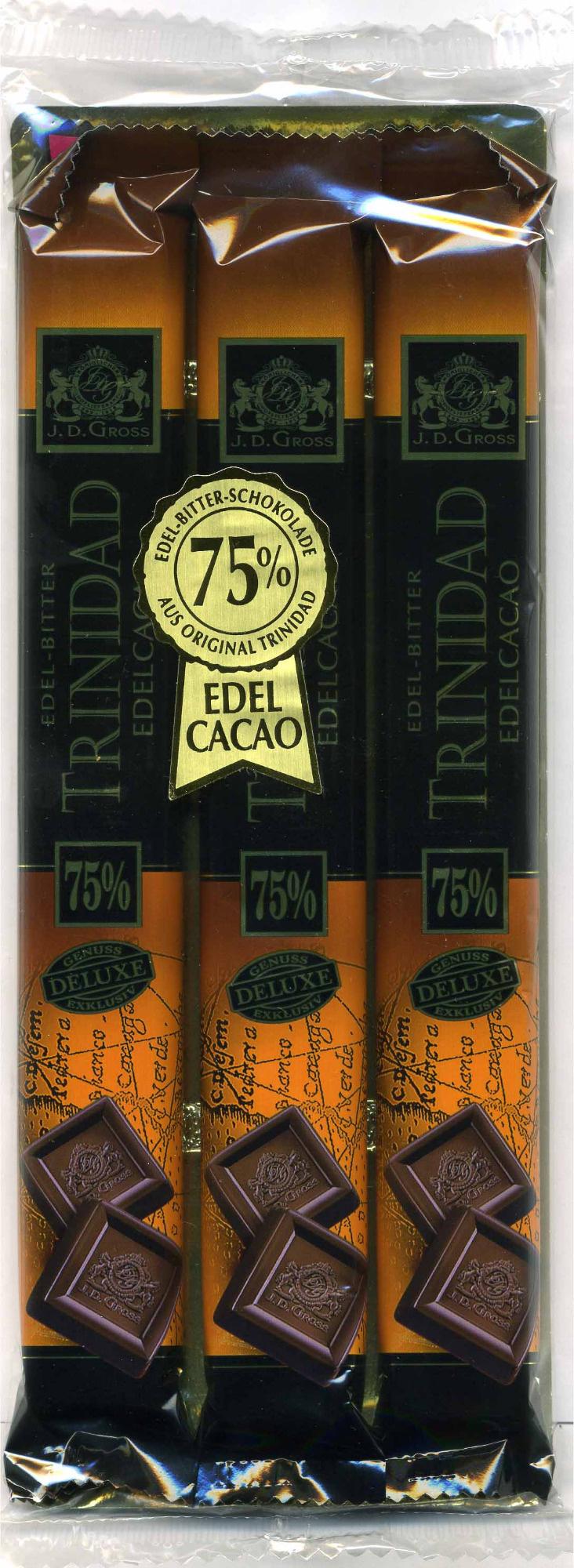 Edel-Bitter-Schokolade Trinidad 75% Kakao - Producto - es