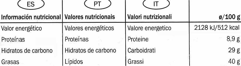 Edel-Bitter-Schokolade Trinidad 75% Kakao - Informació nutricional