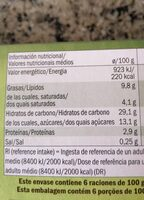 Hojaldre con manzana - Informations nutritionnelles - es