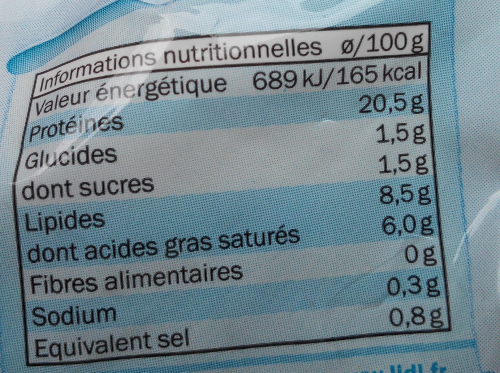Mozzarella allégée - Informazioni nutrizionali - fr