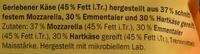 Rapé aux 3 fromages - Inhaltsstoffe